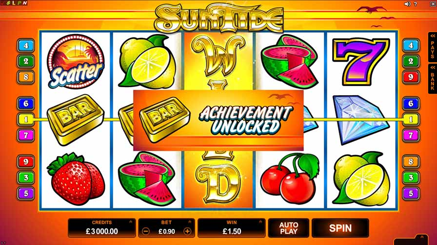 SunTide Slot Game Reels