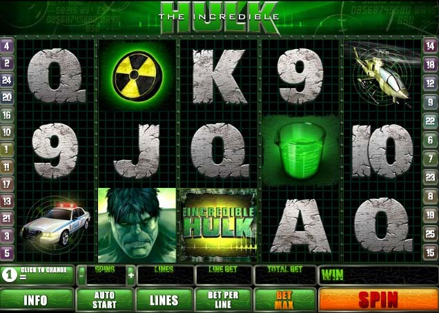 The Incredible Hulk Slot Game Reels