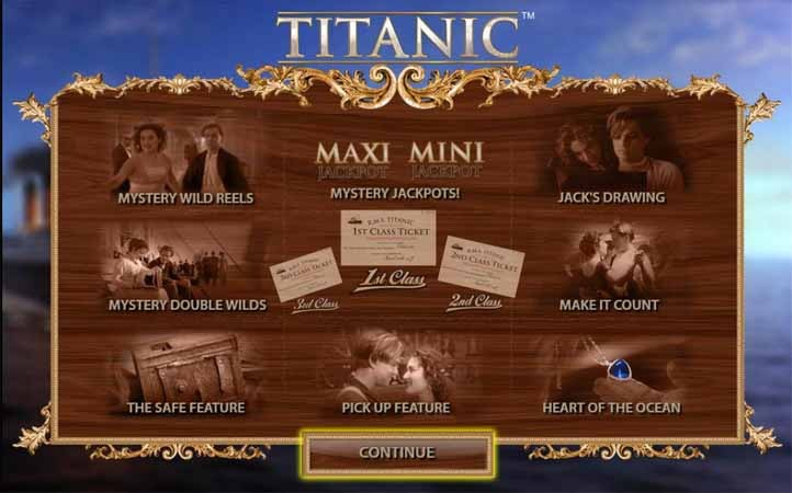 Titanic Slot Bonus