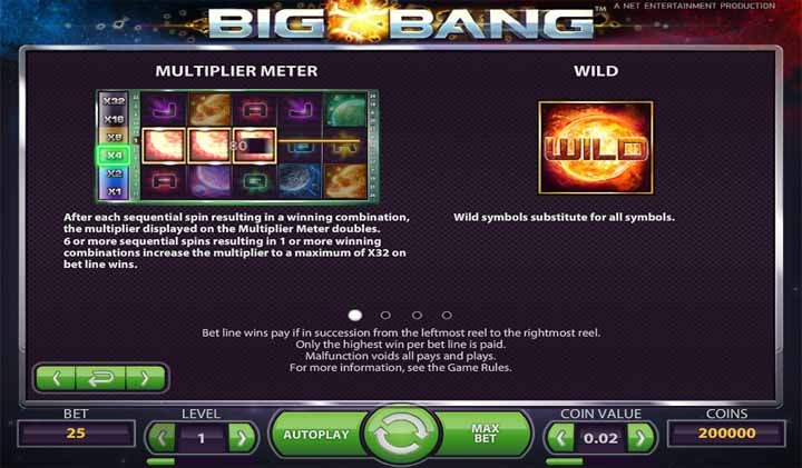 Big Bang Slot Bonus