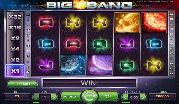 Big Bang Slot Game Reels