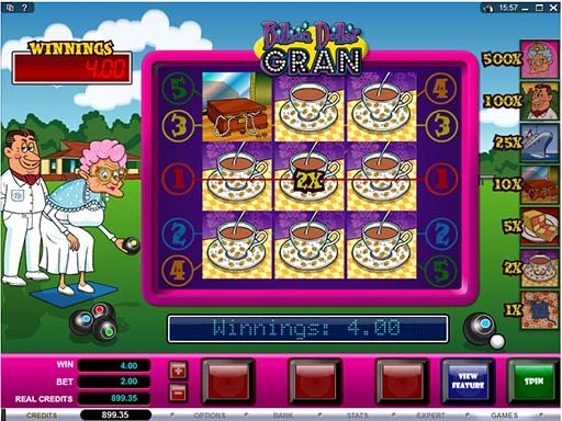 Billion Dollar Gran Slot Paytable