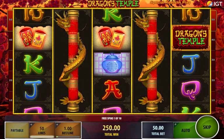 Dragon's Temple Slot Bonus