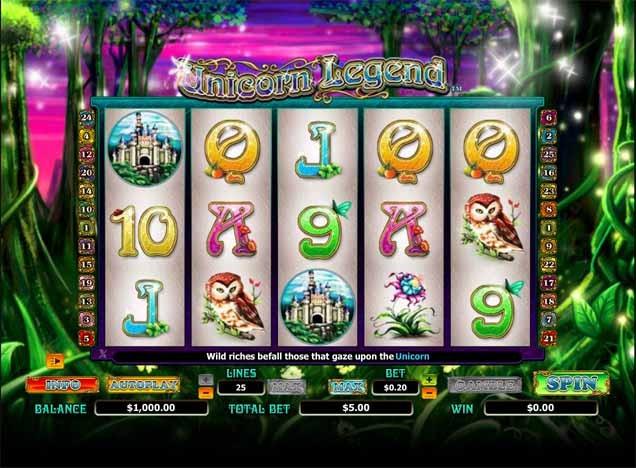 Enchanted Unicorn Slot Game Reels