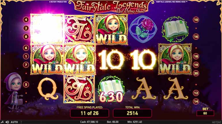 Fairy Tale Legends: Red Riding Hood Slot Paytable