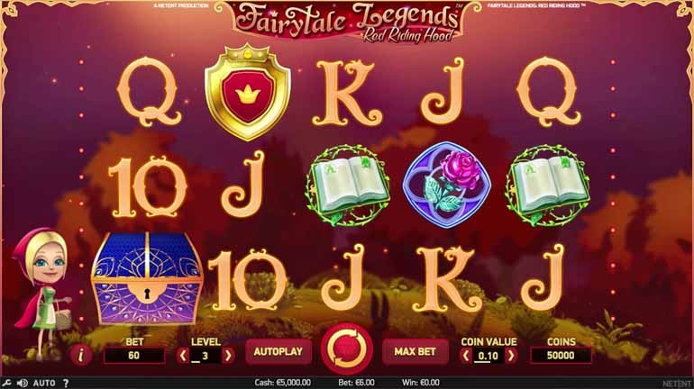 Fairy Tale Legends: Red Riding Hood Slot Game Reels