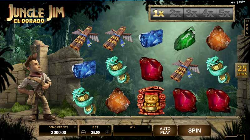 Jungle Jim El Dorado Slot Game Reels