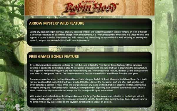 Lady Robin Hood Slot Info