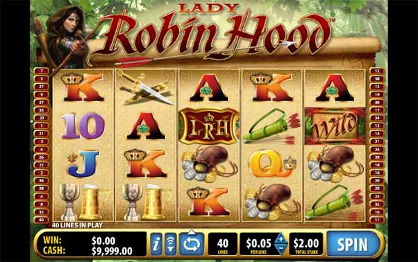 Lady Robin Hood Slot Game Reels