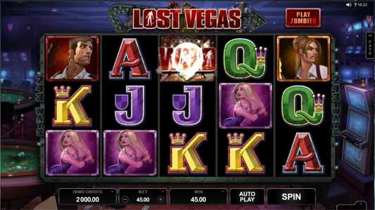 Lost Vegas Slot Game Reels
