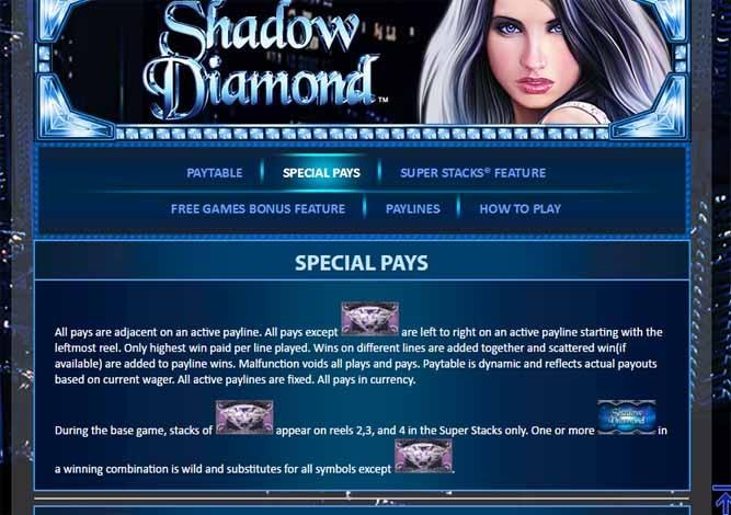 Shadow Diamond Slot Bonus