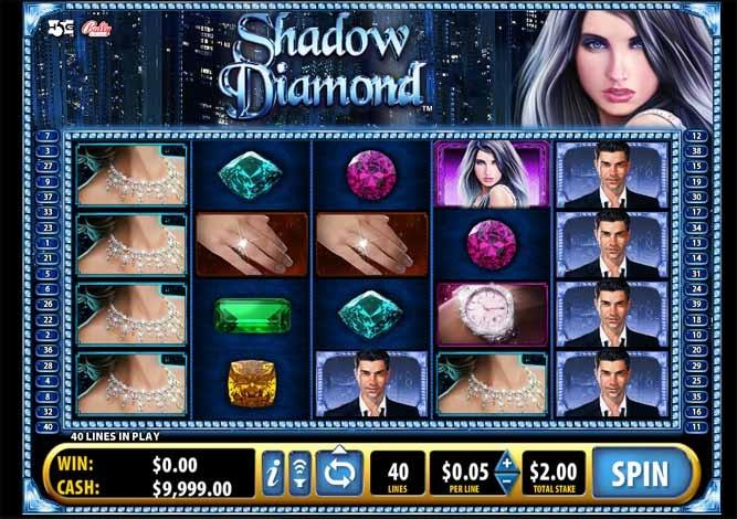 Shadow Diamond Slot Game Reels