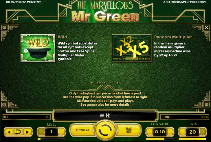 The Marvellous Mr. Green Slot Bonus
