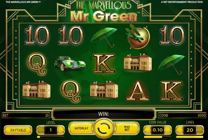 The Marvellous Mr. Green Slot Game Reels