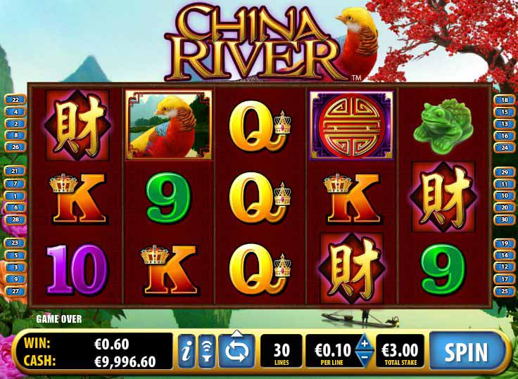 China River Slot Game Reels