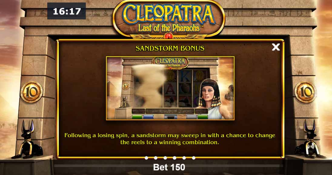 Cleopatra Last of the Pharaohs Slot Bonus