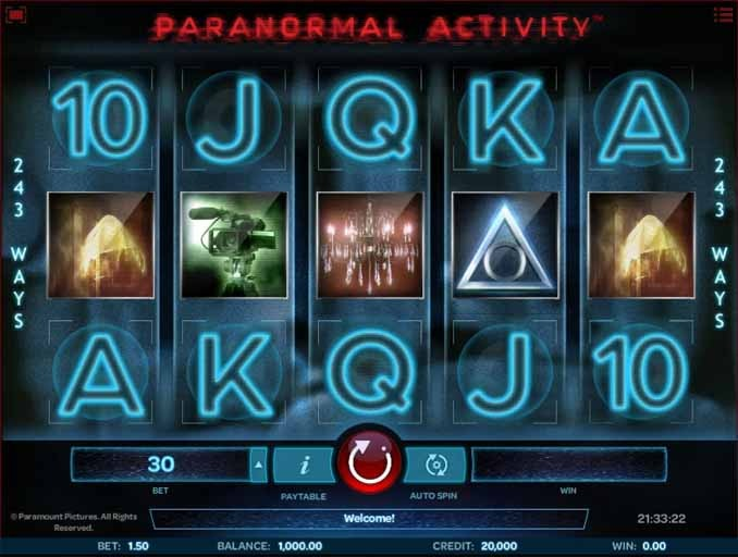 Paranormal Activity Slot Game Reels