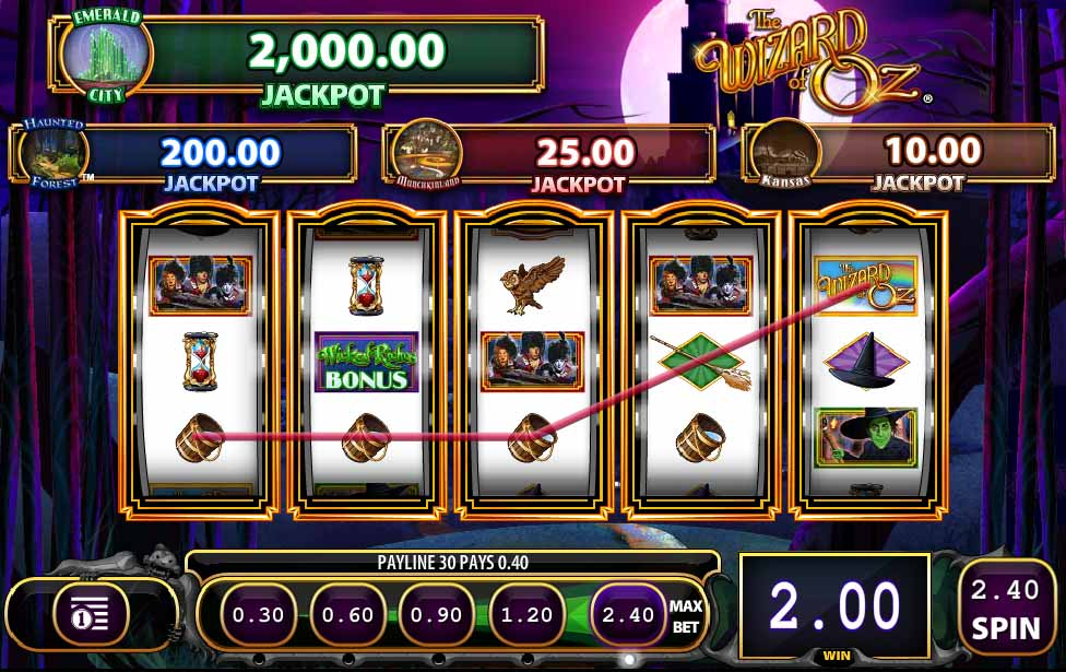 Wizard of Oz Wicked Riches Slot Bonus