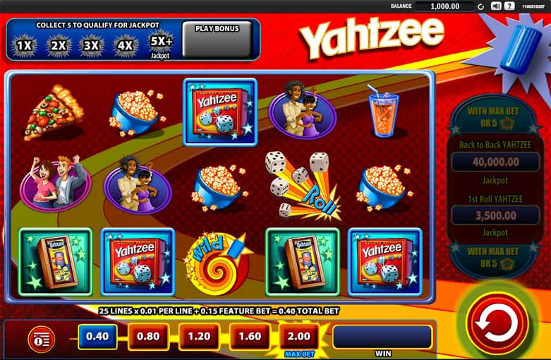 Yahtzee Slot Game Reels