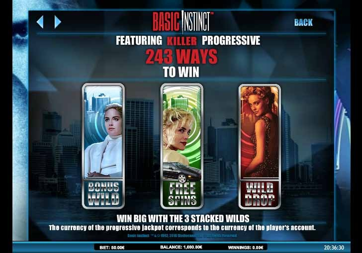 Basic Instinct Slot Bonus