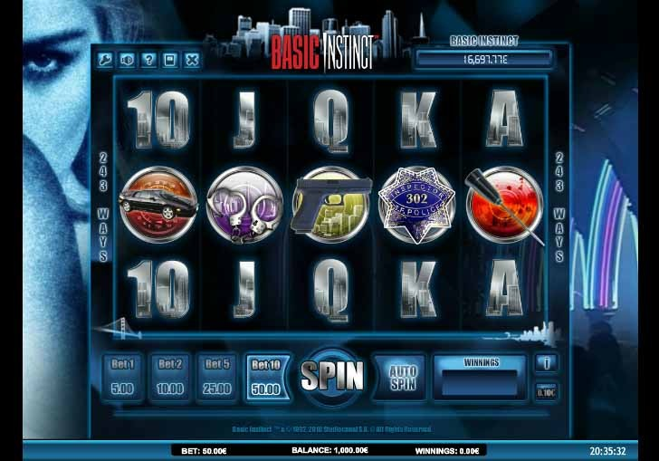 Basic Instinct Slot Game Reels