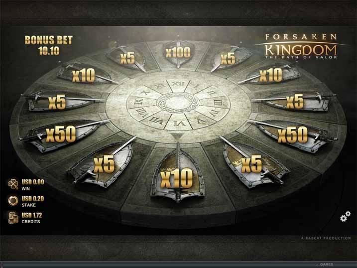 Forsaken Kingdom Slot Bonus