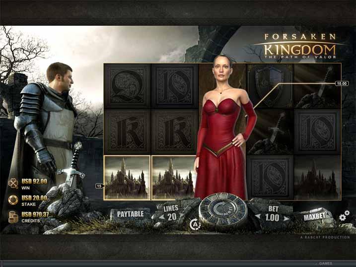 Forsaken Kingdom Slot Game Reels
