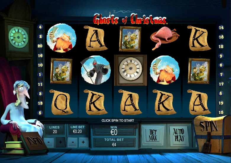 Ghosts of Christmas Slot Game Reels