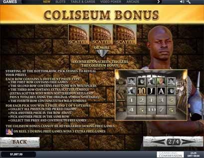 Gladiator Slot Bonus