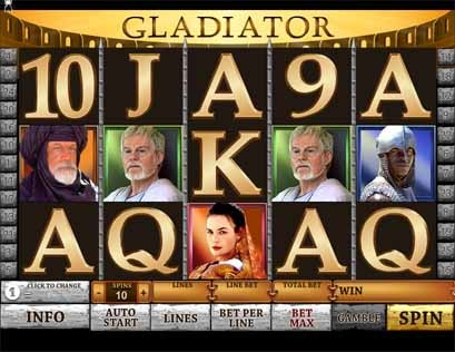 Gladiator Slot Game Reels