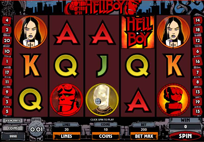 Hellboy Slot Game Reels