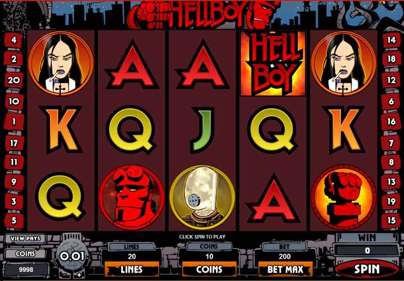 Hellboy Slot Game Reels