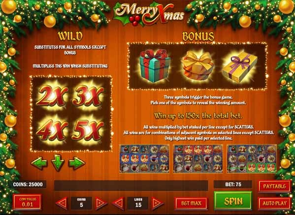 Merry Xmas Slot Bonus