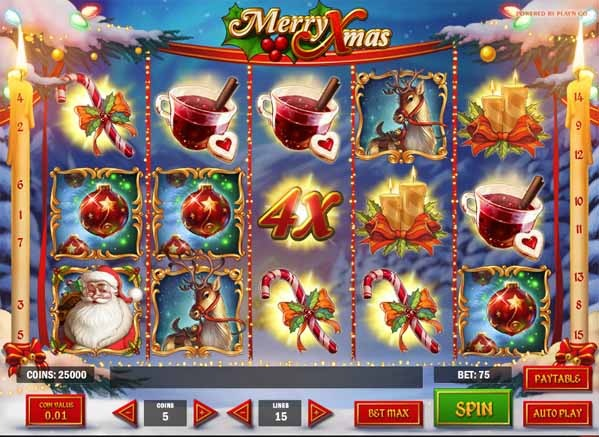 Merry Xmas Slot Game Reels