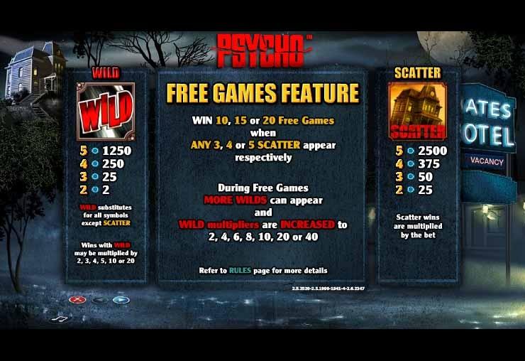 Psycho Slot Bonus