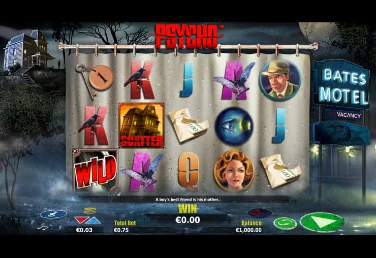 Psycho Slot Game Reels