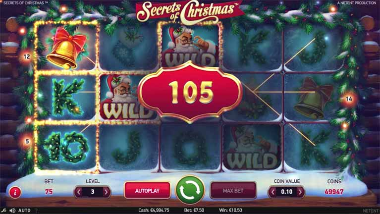 Secrets of Christmas Slot Paytable
