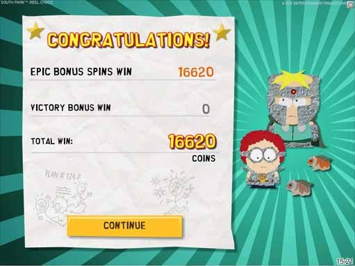 South Park: Reel Chaos Slot Paytable