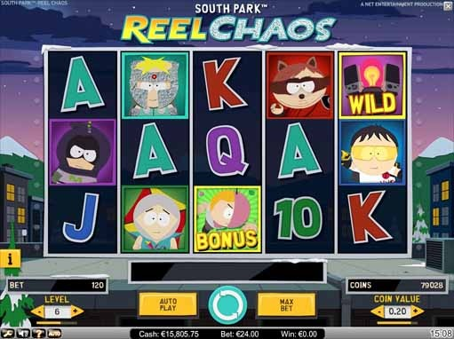South Park: Reel Chaos Slot Game Reels