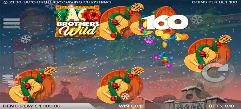 Taco Brothers Saving Christmas Slot Bonus
