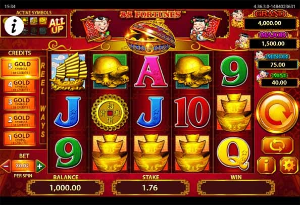 88 Fortunes Slot Game Reels