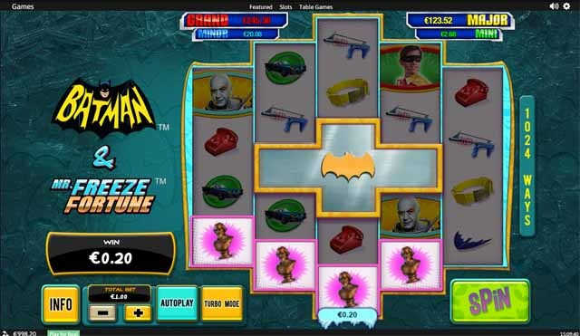Batman and Mr Freeze Slot Bonus