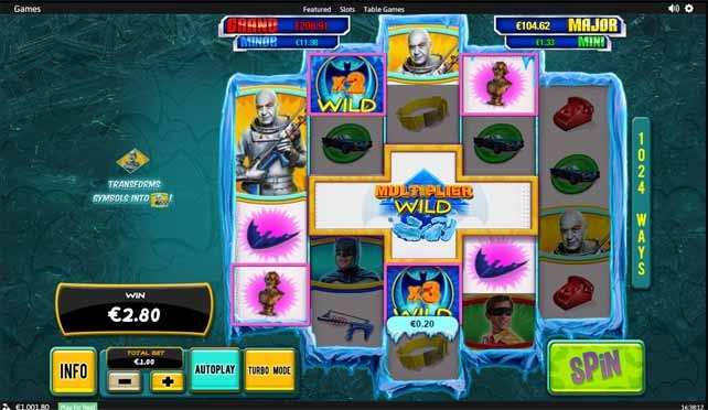 Batman and Mr Freeze Slot Paytable