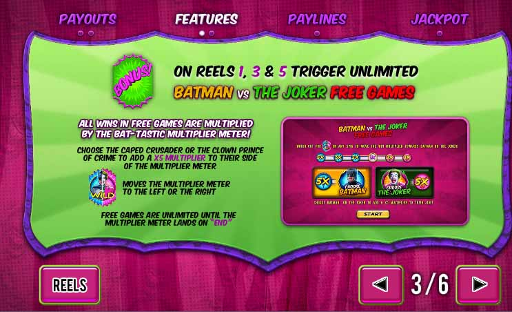 Batman and the Joker Jewels Slot Bonus