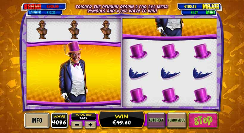 Batman and the Penguin Prize Slot Bonus