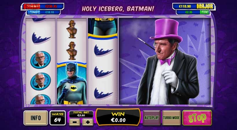 Batman and the Penguin Prize Slot Game Reels