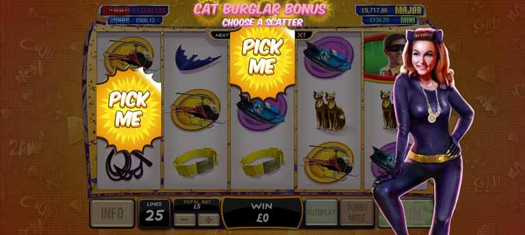 Batman & Catwoman Cash Slot Bonus