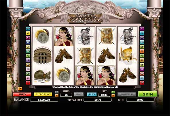 Call of the Colosseum Slot Game Reels