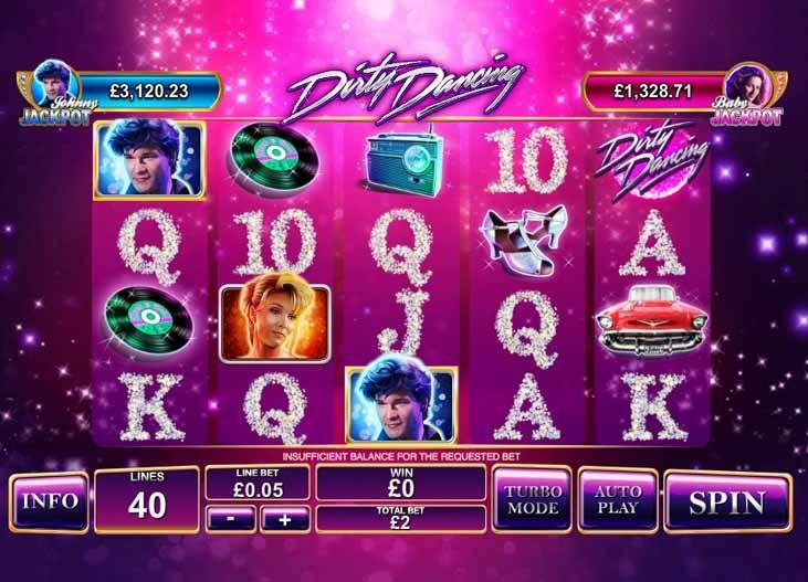 Dirty Dancing Slot Game Reels