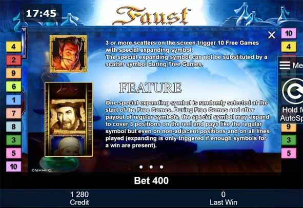 Faust Slot Bonus